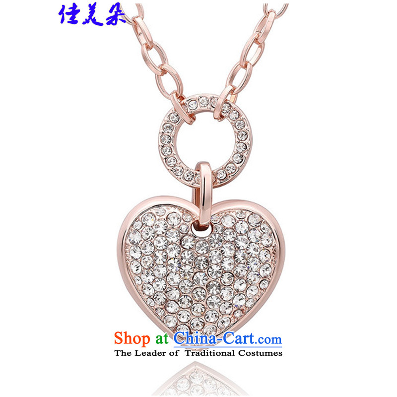 Jia Mei flower聽 length of chain necklace 2015 sweater female Korean stylish rose gold jewelry KM016 Figure Color Code