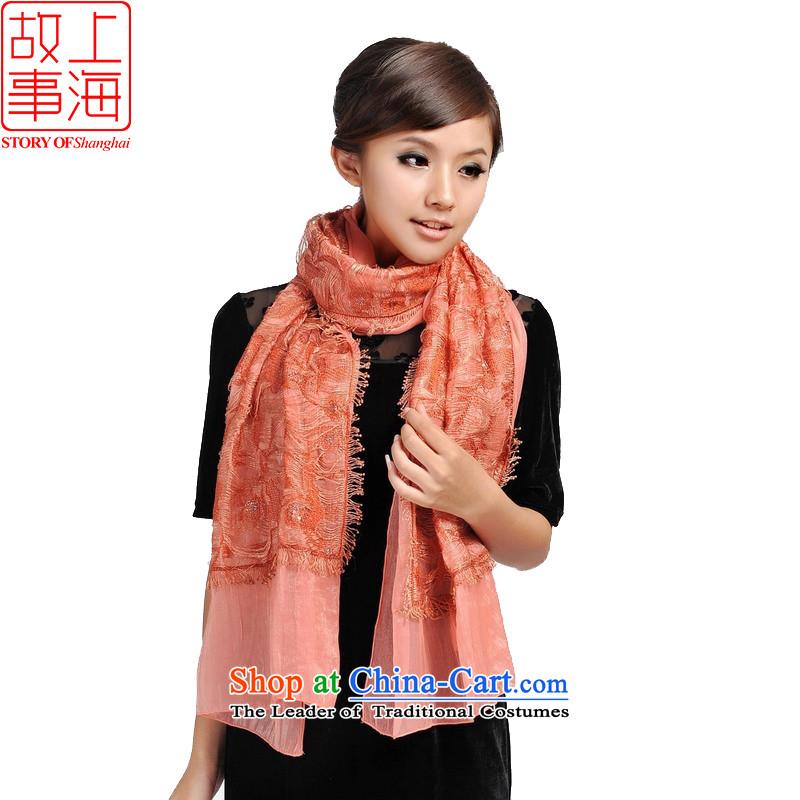 Shanghai Story blooming goddess stylish lace chopper lace scarf166116orange