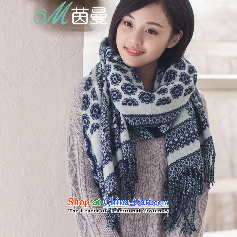 Athena Chu Cayman 2015 autumn and winter new ethnic scarf edging female scarf 854140297-blue