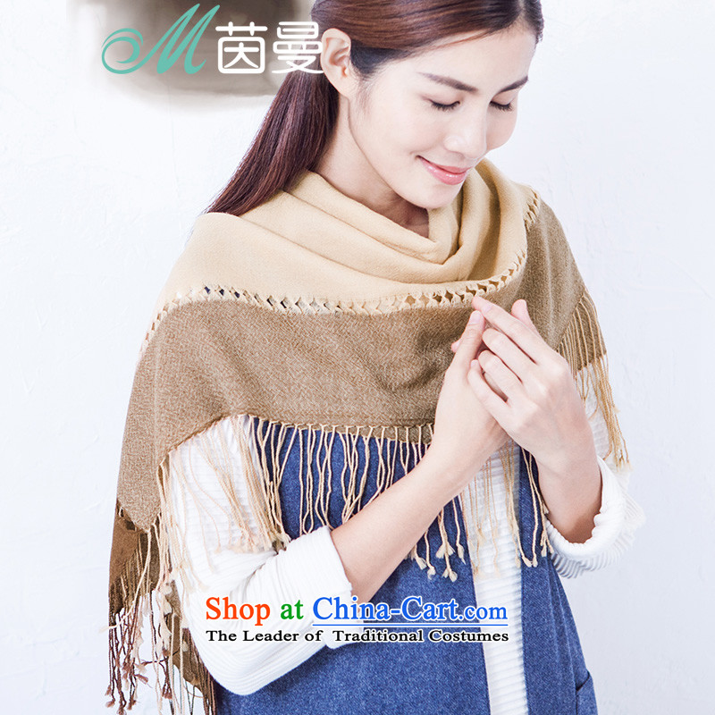 Athena Chu Cayman2015 new edging strip and classy towel female wool Fancy Scarf of autumn and winter 854140243 Brown