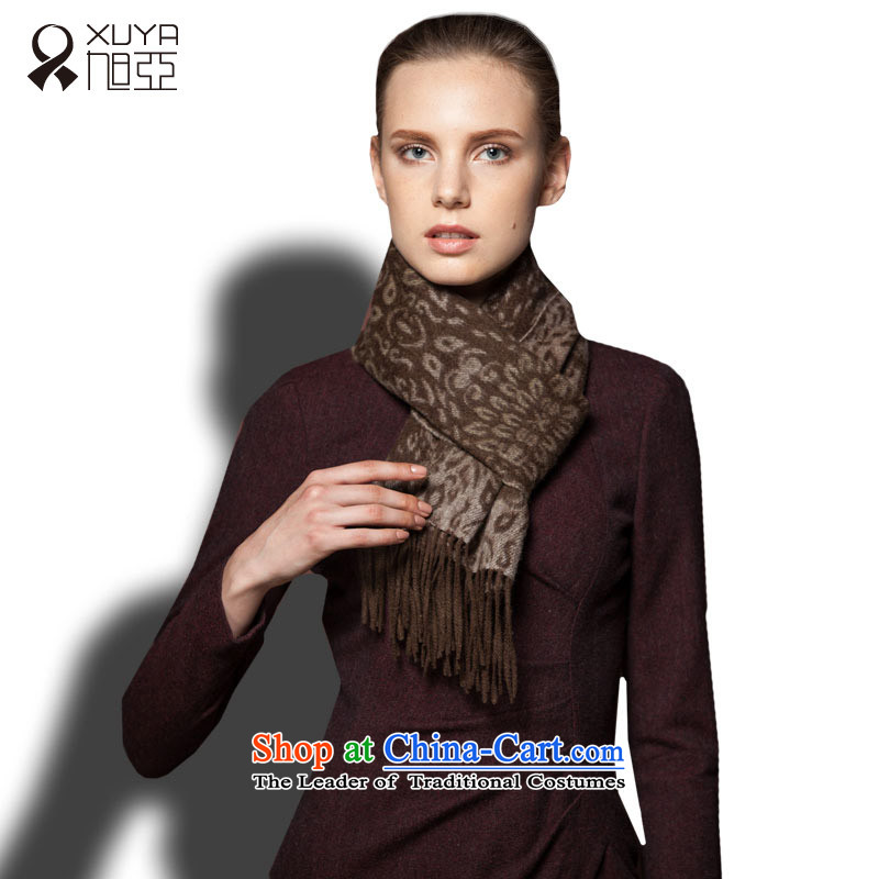 The wool blend yarn, Ms. Xu Scarf Sleek and versatile autumn and winter warm thick, lady green jacquard