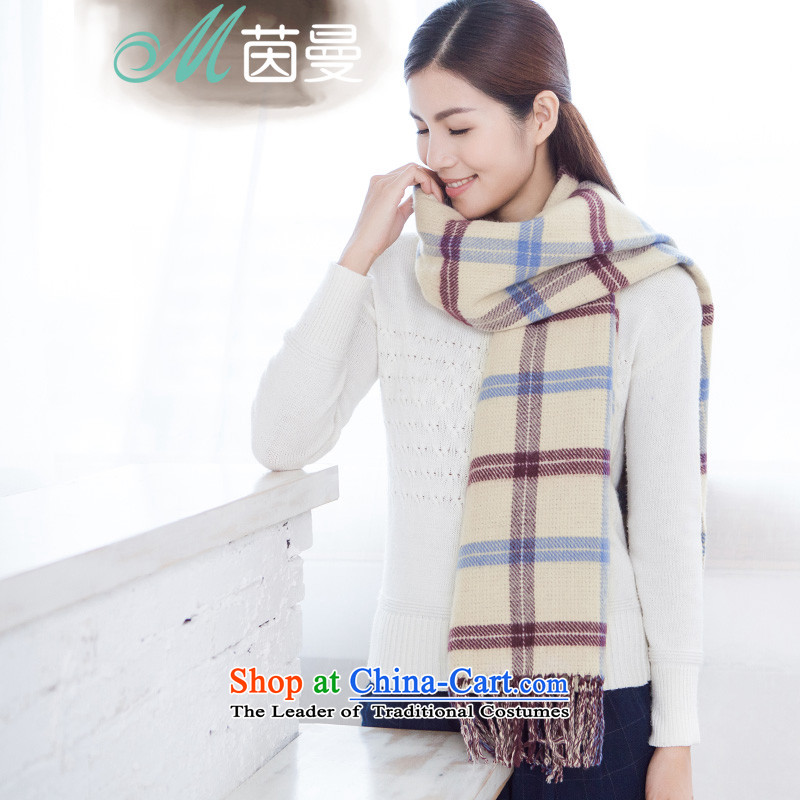 Athena Chu Cayman 2015 new arts wild large grid, scarf warm with two shawls autumn and winter 854140252 (as apricot