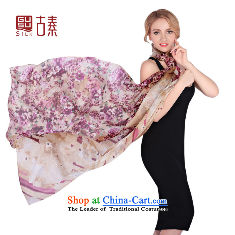 Ancient of silk upscale gift silk scarfs spring and autumn sauna Jamsil silk scarves women silk scarfs shawl large long towel drift wadding blooming
