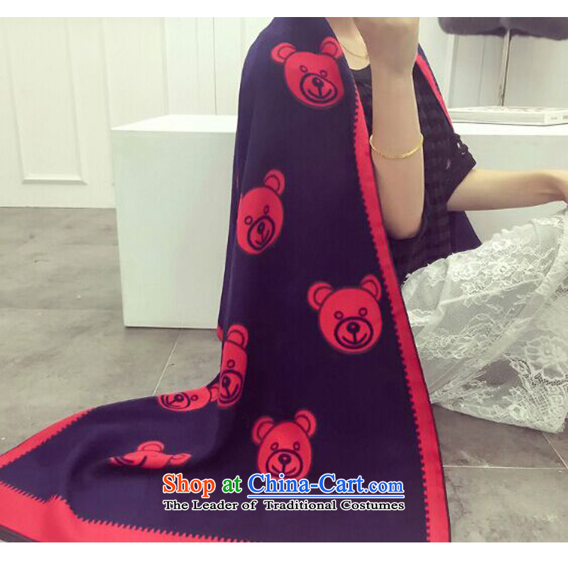 Bathing in the Korean version of Mrs Rosanna Ure Memnarch autumn and winter cubs head scarf female thickened pattern long winter double-sided with student emulation cashmere shawls gift