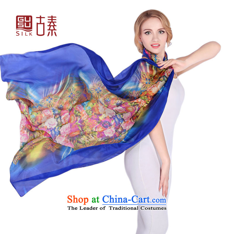 Ancient of silk boutique sauna Jamsil silk shawls long handkerchief also use two large autumn and winter extralong yarn silk scarf western new upscale, lush flowers