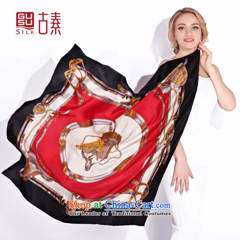 Ancient Silk upscale silk scarf of 100% Ms. Santos also silk scarf spring and autumn silk scarf gift and classy autumn and winter, Fancy Scarf Ambilight Louvre flowing,