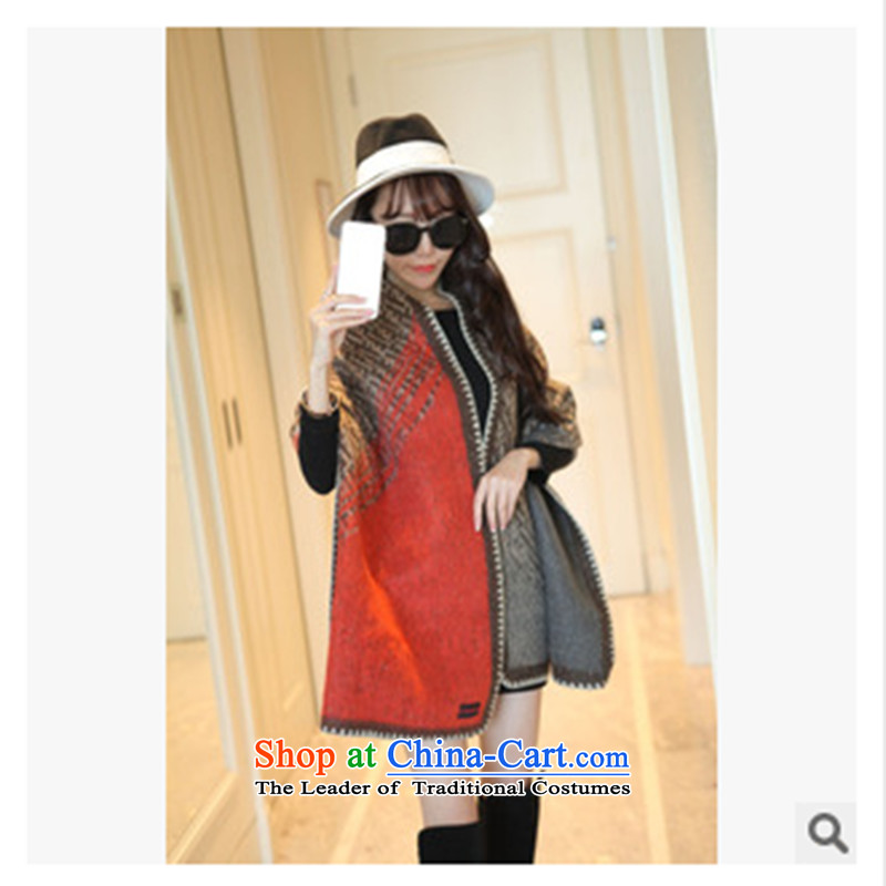 2015 Autumn and winter's shawl Cashmere scarf girls drop-down gross thick shawl use two Sleek and versatile orange