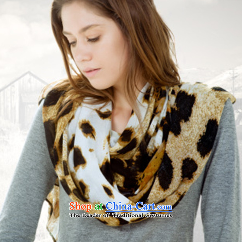 2015 Autumn and Winter Ms. new stamp leopard scarf Western big wild warm scarf leopard