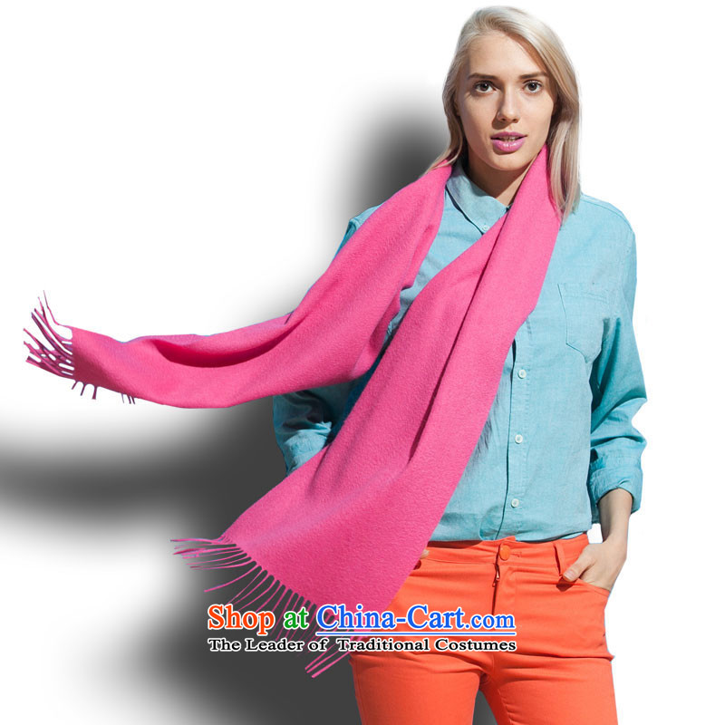 Arctic lint-free wooler scarf pure colors in the red 23#-29914