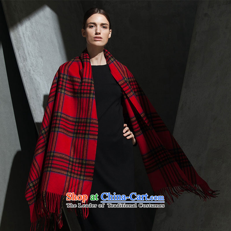 Hengyuan Cheung woolen shawl Scottish Red Grid50M15330