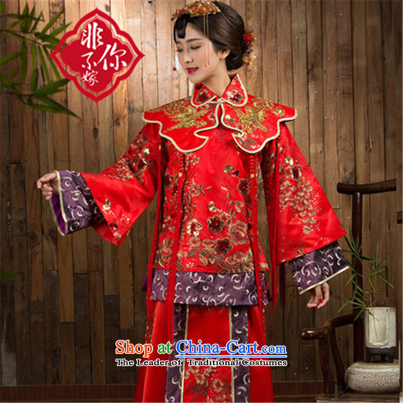 You do not marry non-Sau Wo Service 2015 The Dragon and the use of the new winter red Chinese wedding dresses cheongsam wedding gown bride RED?M