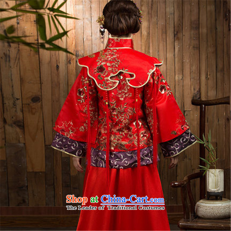 You do not marry non-Sau Wo Service 2015 The Dragon and the use of the new winter red Chinese wedding dresses cheongsam wedding gown bride RED聽M Non-you do not marry shopping on the Internet has been pressed.