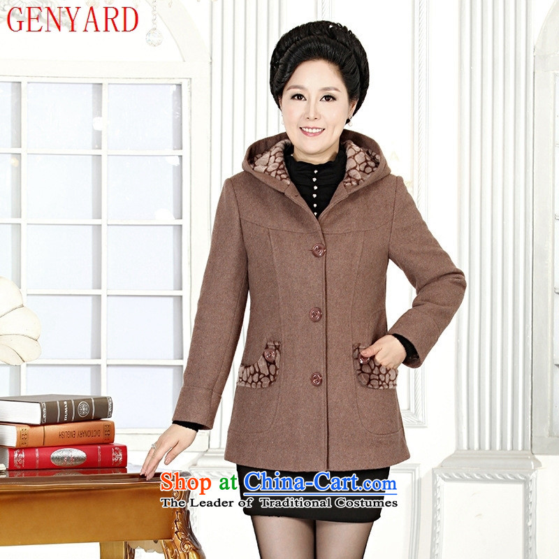 The fall of the new mother GENYARD2015 replace Ms. shirt? gross temperament. mother coat and color older?XXL