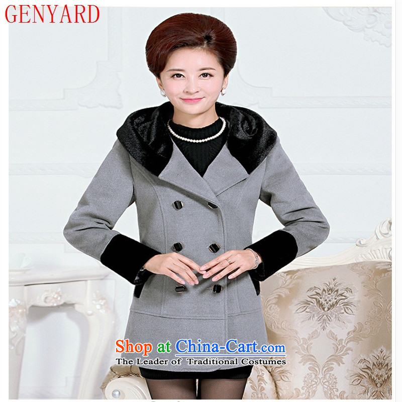 The fall in the number of older gross GENYARD2015 casual clothes with her mother so stylish with cap light gray燲XXL jacket? gross