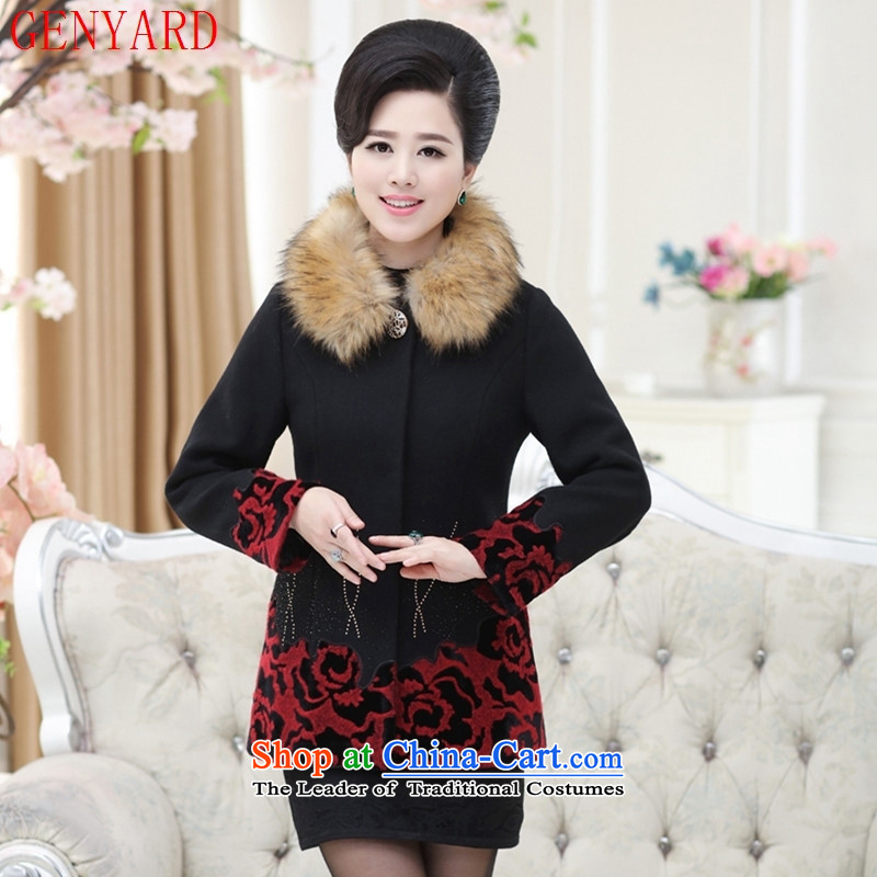 The fall in the new GENYARD2015 older gross for comfortable decorated in warm coat embroidered jacket, mother of red�XL