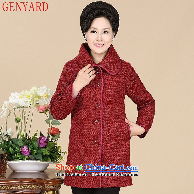 The fall in the new GENYARD2015 older gross? jacket mother casual gross red jacket stitching??XL