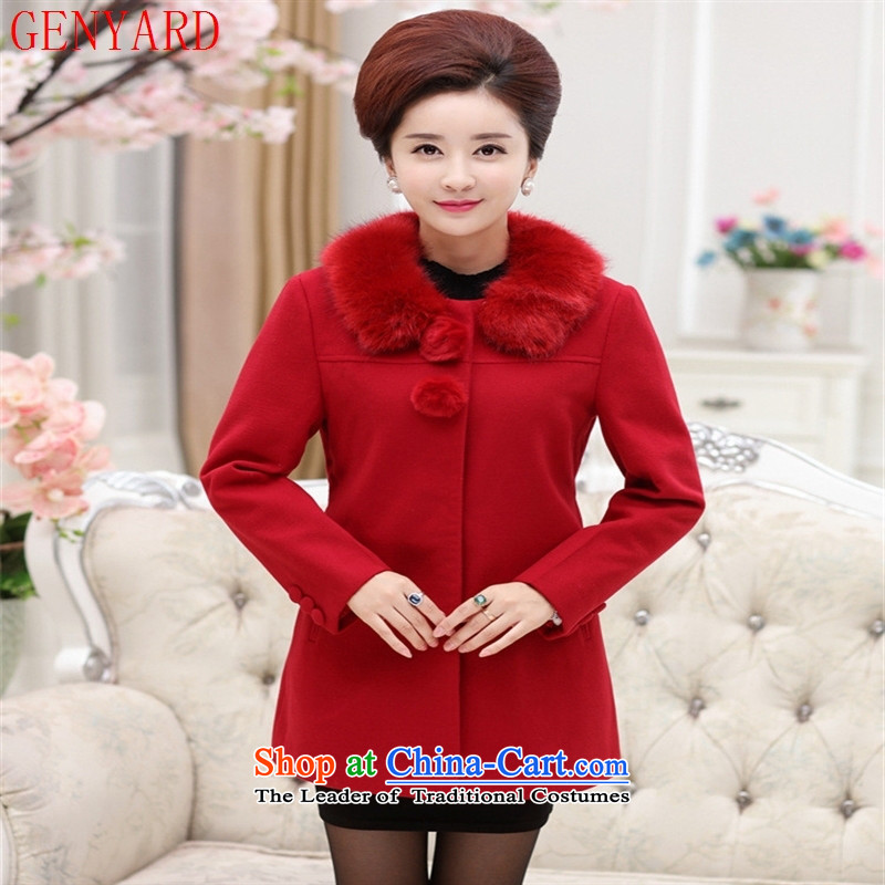 The fall in the new GENYARD2015 older leisure Gross Gross Neck Jacket mother? Boxed stylish gross? red jacket�XL