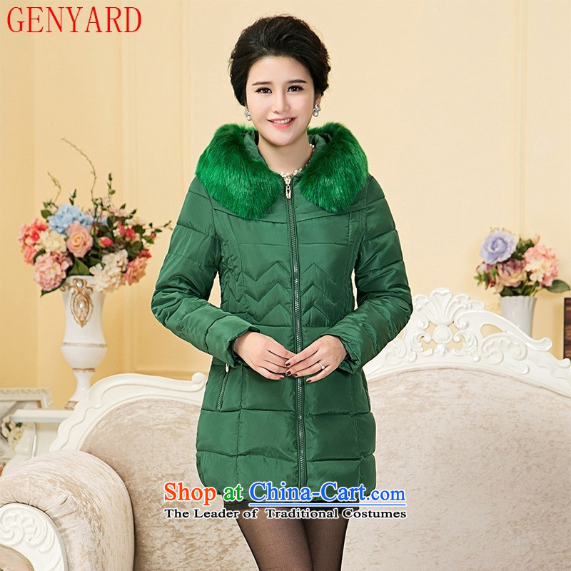 Genyard2015 autumn and winter in the new mother with older thick cotton clothing is warm and comfortable cotton with mother燲XXL black