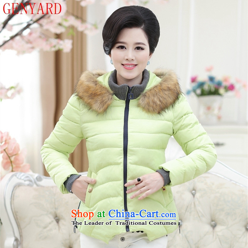 The fall of the new middle-aged GENYARD2015 MOM pack warm and comfortable stylish coat COTTON SHORT_ jacket聽xxxxl red