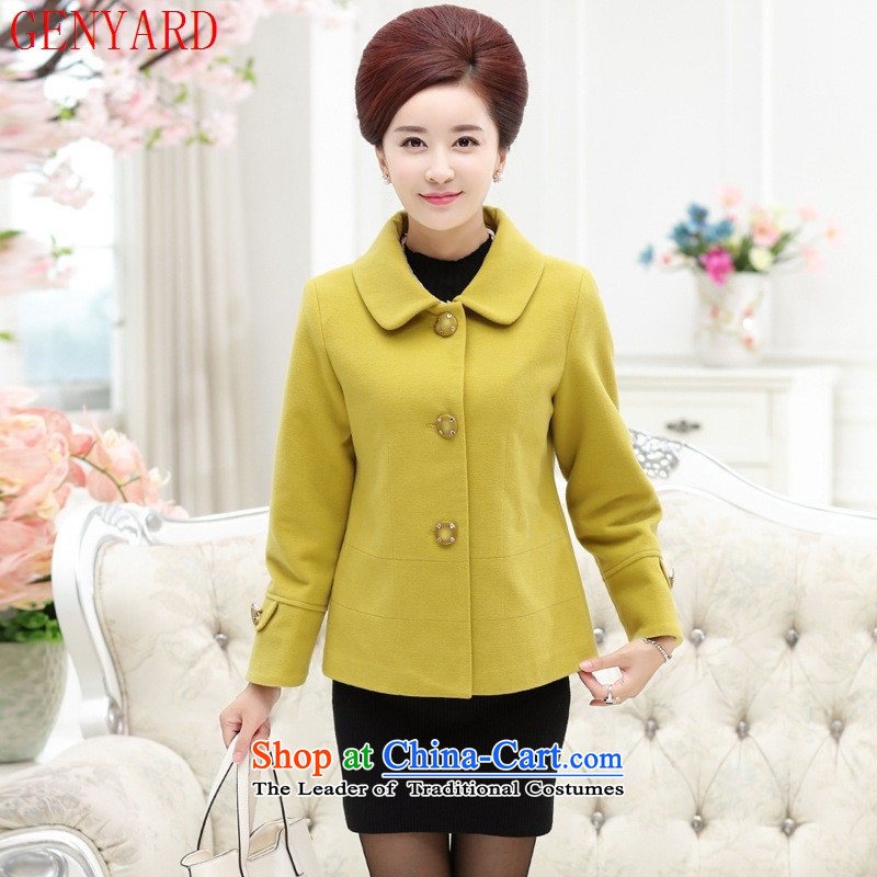 The fall in the new GENYARD2015 elderly mother with short T-Shirt    ,    , gross? LAKE blue�xxxxl Jacket