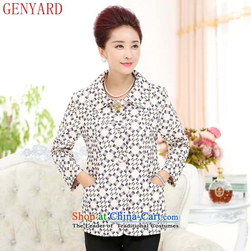 The fall in the new GENYARD2015 casual clothes stylish mother older replacing stamp lapel jacket pink?XL