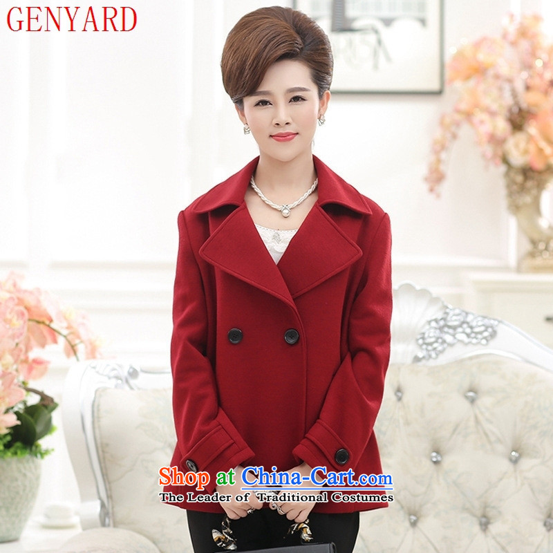 In the number of older women's GENYARD fall short of new gross Stylish coat mother load? large middle-aged clothing in red�L