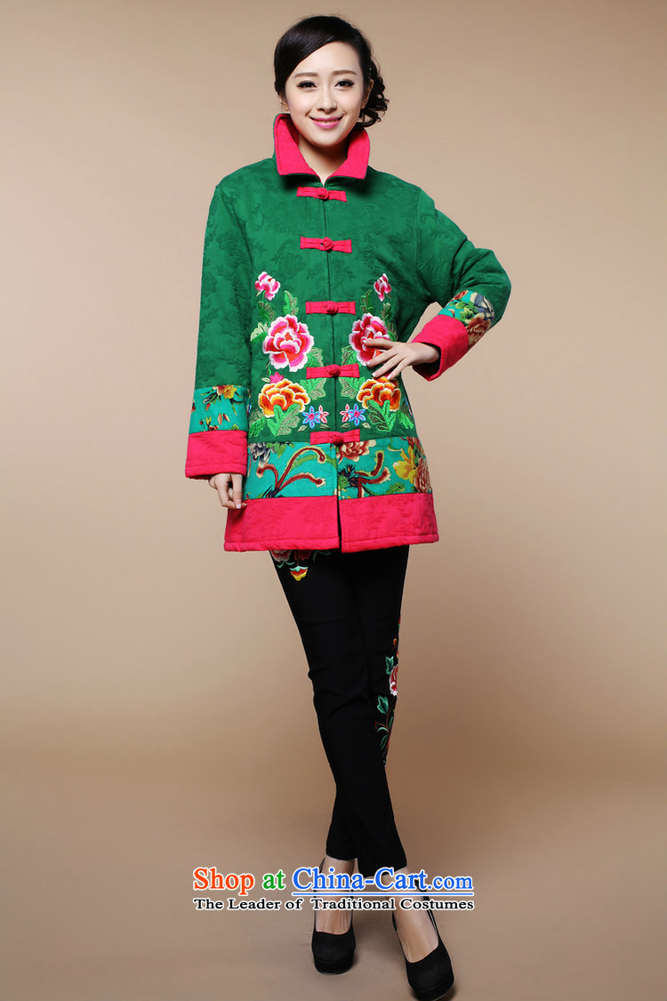 2015 winter clothing new retro embroidery Tang dynasty xl cotton linen in long cotton coat jacket female in the red聽XL Photo, prices, brand platters! The elections are supplied in the national character of distribution, so action, buy now enjoy more preferential! As soon as possible.