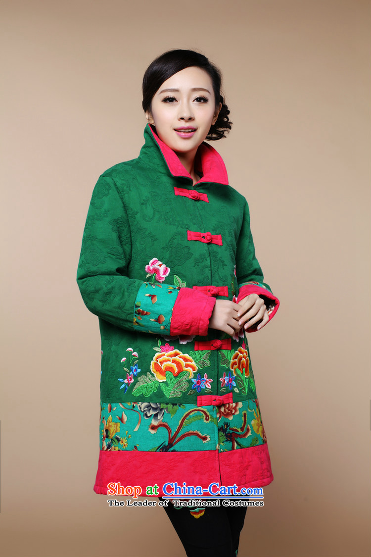 2015 winter clothing new retro embroidery Tang dynasty xl cotton linen in long cotton coat jacket female in the red XL Photo, prices, brand platters! The elections are supplied in the national character of distribution, so action, buy now enjoy more preferential! As soon as possible.