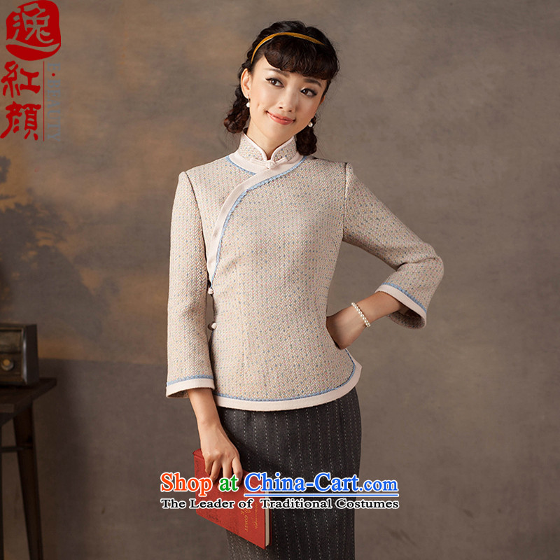A Pinwheel Without Wind poems in thick Yat?2015 autumn and winter long-sleeved shirt qipao New China wind Sau San Tong replacing toner color retro? S