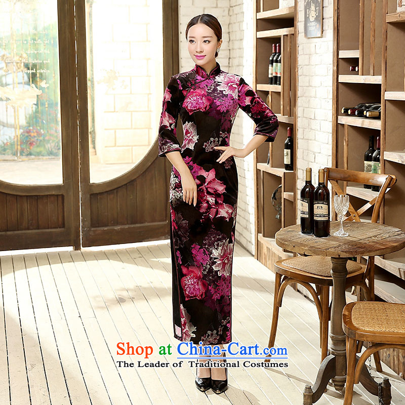 Ko Yo new qipao Overgrown Tomb Amaral stylish old character poster elastic Kim Sau San scouring pads 7 cuff qipao antique dresses and stable performance package T0006 T0011 XXXL skirt