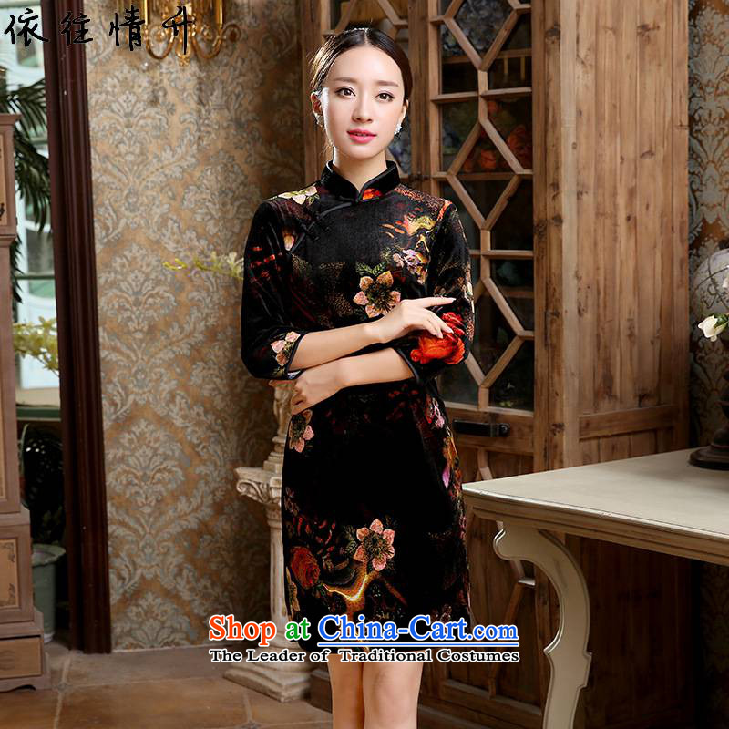 In accordance with the love in a trendy new for women retro ethnic Chinese collar is pressed to improvement of the Sau San 7 cuff qipao ancient _TD0050_ figure M