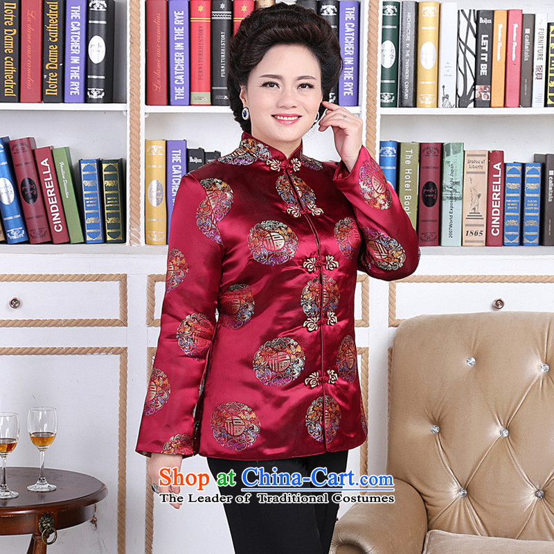 The elderly in Mephidross beibei economy Tang Gown robe couples installed shou wedding services�Mj0008-a will�mother,�XXL