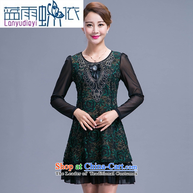 Ya-ting shop 2015 new autumn replacing wedding dresses mother temperament Sau San atmospheric older women's large red聽3XL