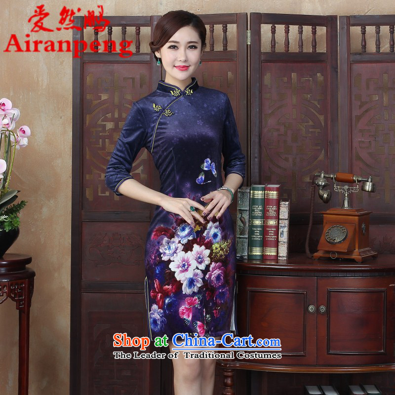 The classic 2015 winter clothing qipao stylish 7 to the improvement of the day-to-day cuff cheongsam dress, large retro large L package returning