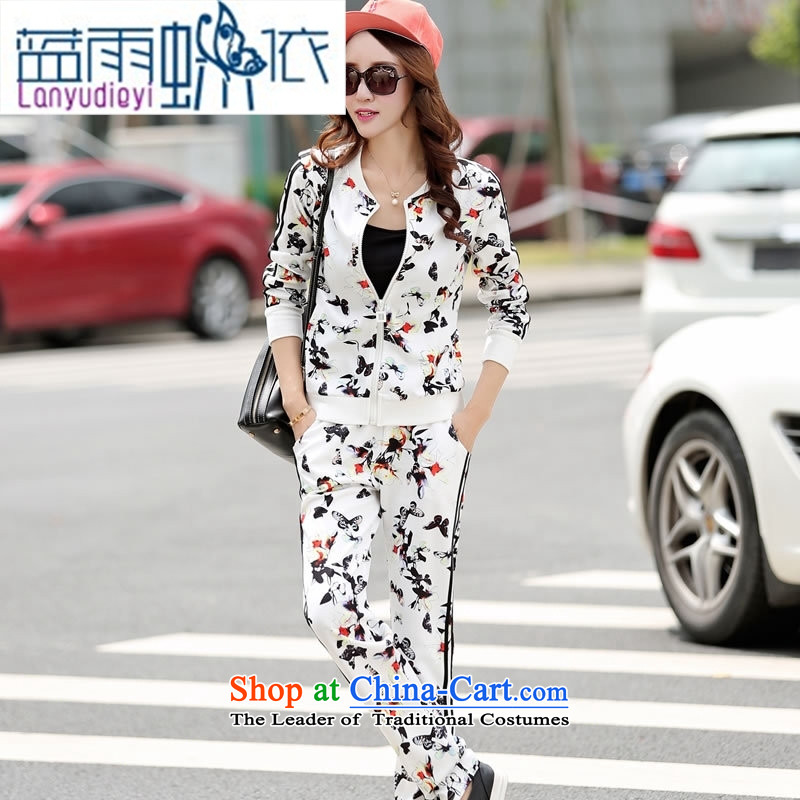 Ya-ting shop 2015 winter clothing Korean women's stylish pants two kits BBY5066 white?L
