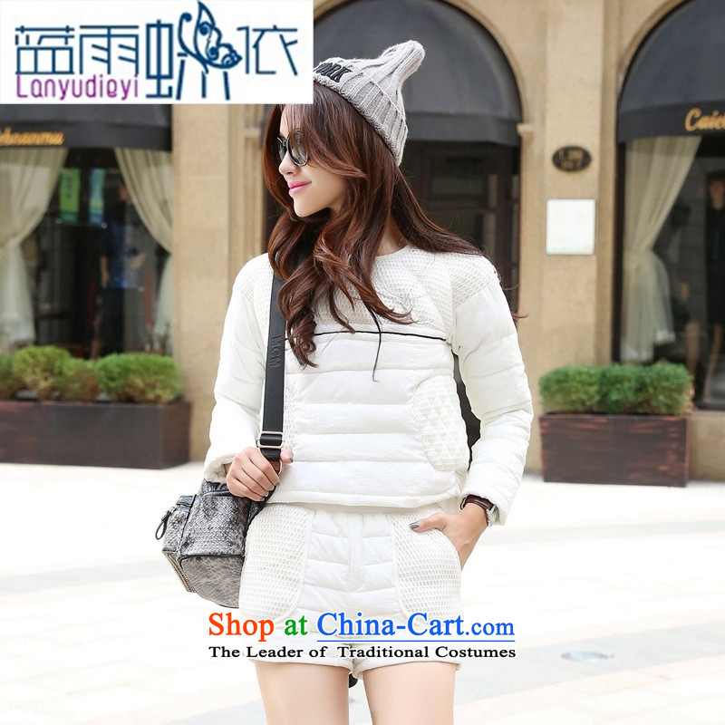Ya-ting shop 2015 winter clothing Korean ladies' pants with two-piece BHCNL1506 White聽M
