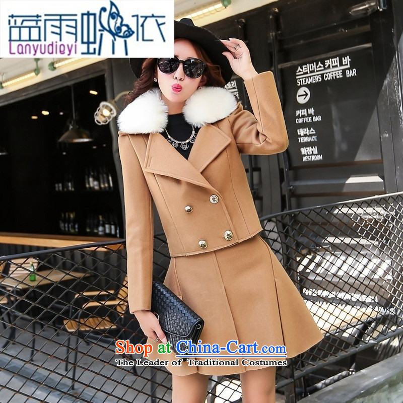 Ya-ting shop 2015 winter clothing Korean women's gross? dress with two kits with gross for card BYJLY8539 its XL