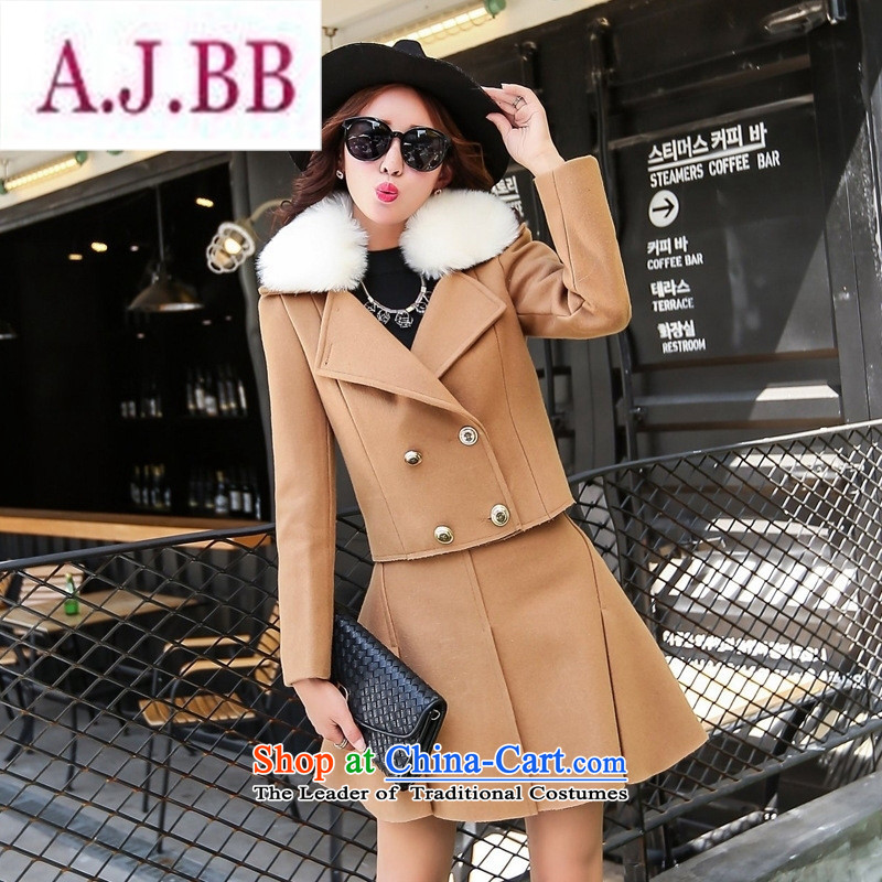 Ms Rebecca Pun stylish shops 2015 winter clothing Korean women's gross? dress with two kits with gross for card BYJLY8539 its聽XXL