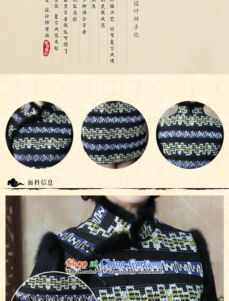 Dan smoke autumn and winter new women's gross for a qipao gown streaks dresses? The cotton wool improved qipao Figure Color Sau San聽M picture, prices, brand platters! The elections are supplied in the national character of distribution, so action, buy now enjoy more preferential! As soon as possible.
