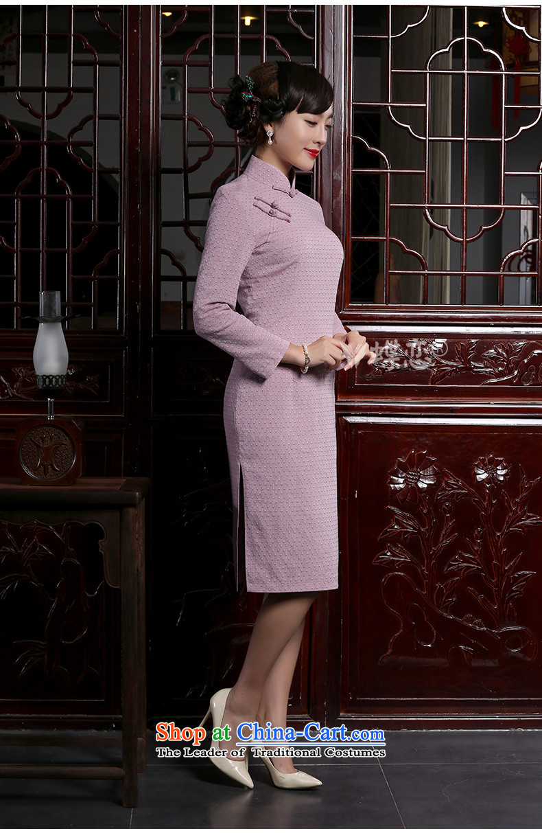 The Butterfly Lovers 2015 autumn and winter new retro long long-sleeved cheongsam dress stylish improved cotton linen dresses Sau San light violet聽S picture, prices, brand platters! The elections are supplied in the national character of distribution, so action, buy now enjoy more preferential! As soon as possible.