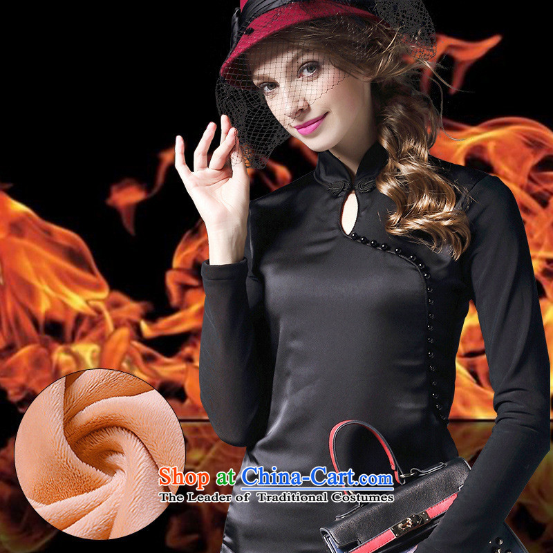 The Black Butterfly women in Europe and America 2015 winter clothing plus new forming the thick clothes of the Sau San lint-free warm-ups, forming the Netherlands female winter red燲XL