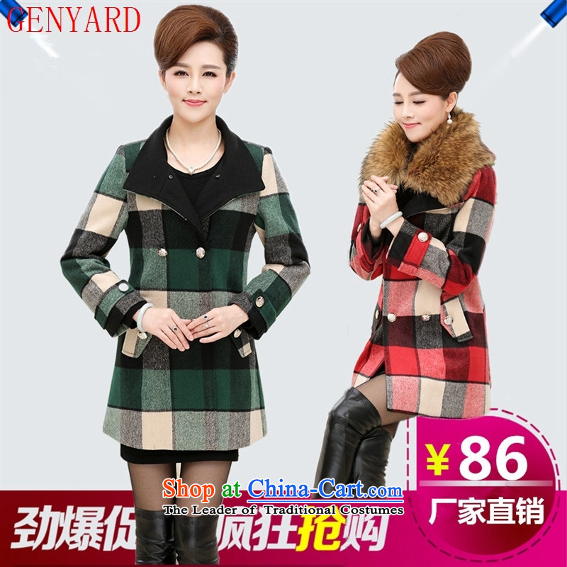 Load New GENYARD autumn wind-girl in older women a wool coat wool middle-aged mother jackets for nagymaros orange�XL