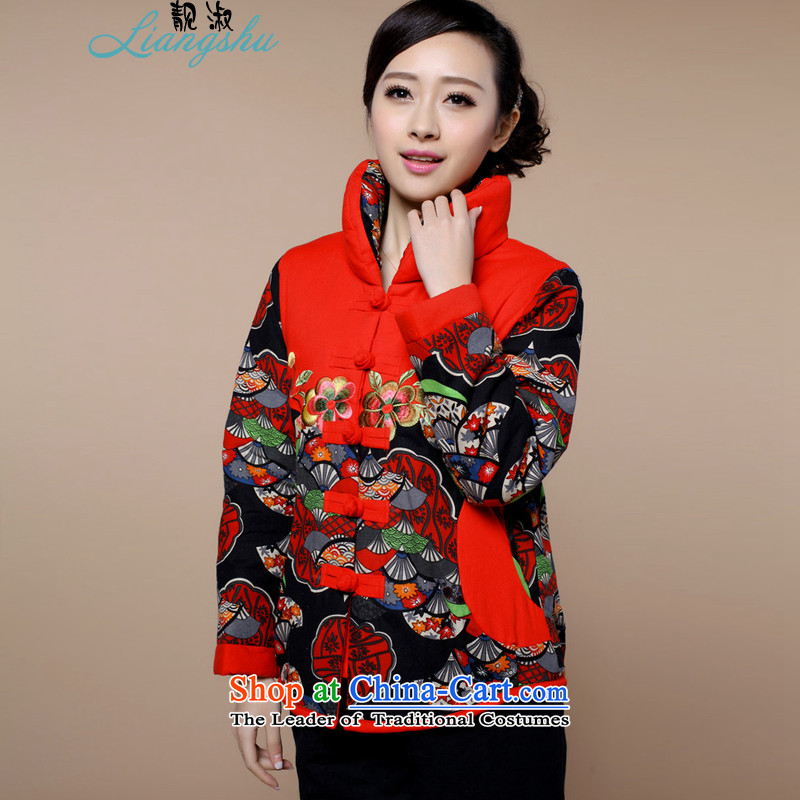 Talks of autumn and winter 2015 Mrs mother older women in national wind load Embroidery Stamp Grandma Tang Dynasty Large ?t��a Leisure Comfort Bonfrere looked as casual single kit optional package?XXXL Safflower