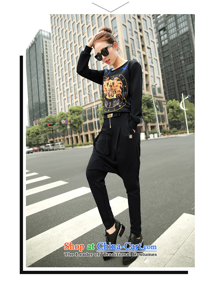 Secretary for autumn and winter clothing *2015 involving Korean female New Low round-neck collar long-sleeved T-shirt, forming the stamp sweater blackM picture, prices, brand platters! The elections are supplied in the national character of distribution, so action, buy now enjoy more preferential! As soon as possible.