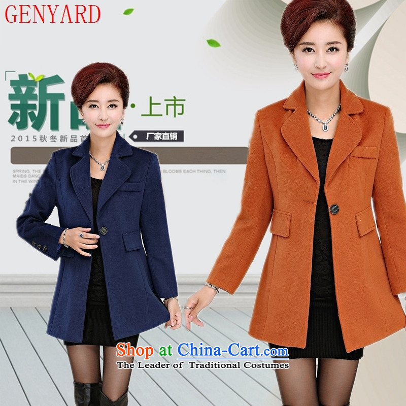 In the number of older women's GENYARD new a wool coat stylish mother boxed windbreaker Sau San 35-45 jacket new navy�L
