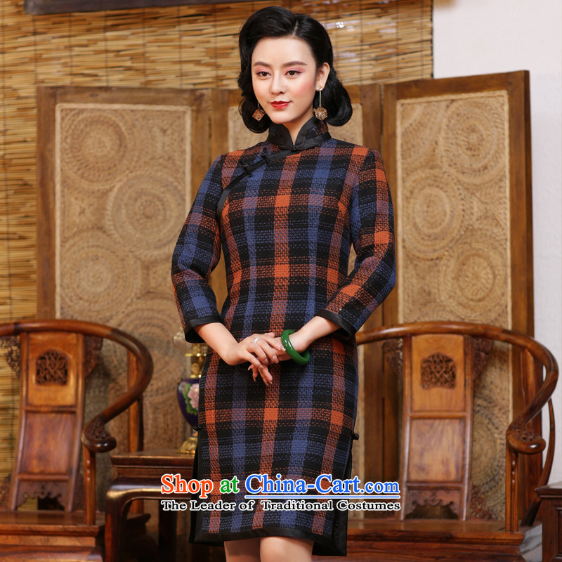 China Ethnic Chinese classical cuff cheongsam dress 2015 new daily fall and winter, Ms. dresses and Stylish retro suit - the pre-improved sales 15 days燲XL