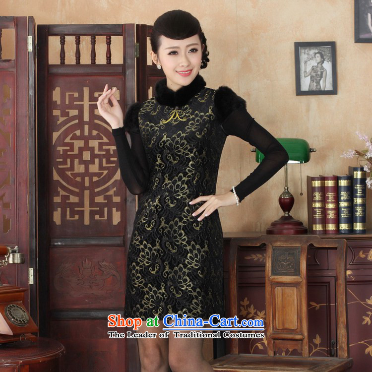b69cea5b1 In accordance with the fuser retro ethnic Chinese improved women's dresses  need collar badges of Sau