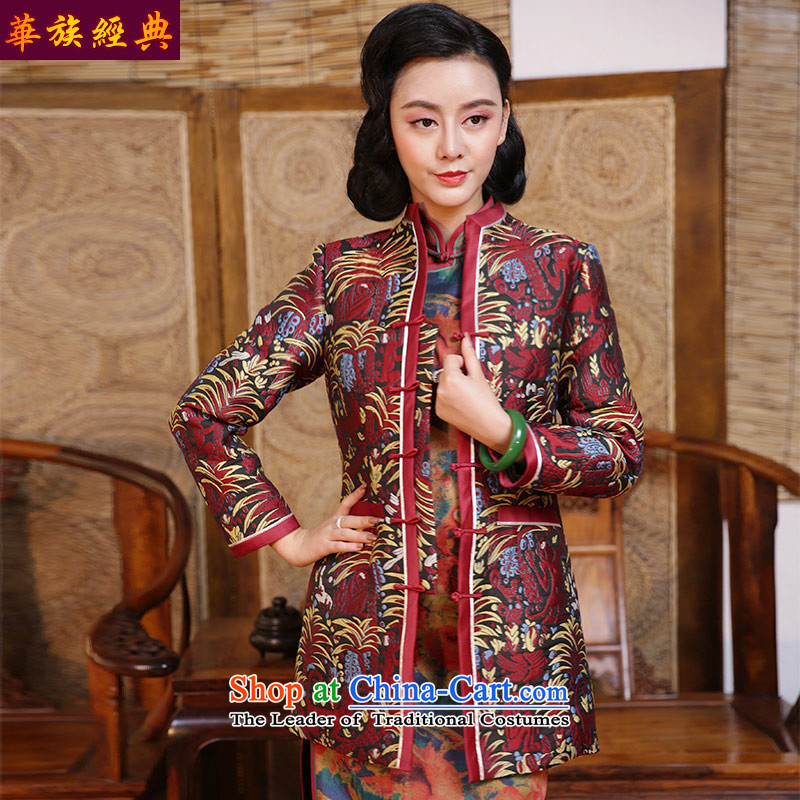 China-Tang dynasty Classic autumn replacing qipao jacket, the Republic of Korea long-sleeved blouses and improvement of Chinese Wind China Wind Jacket suit - 15 days pre-sale聽L