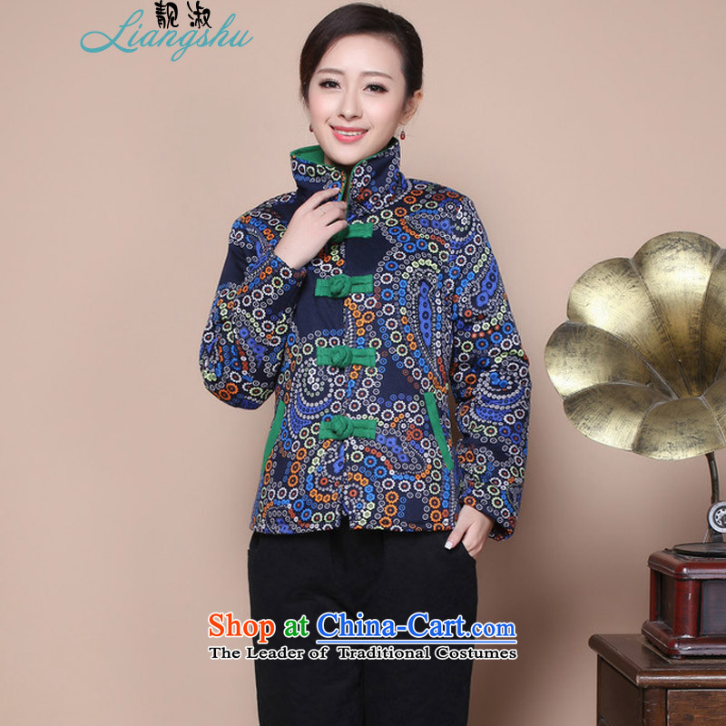 Talks of autumn and winter 2015 Mrs new stylish mother older women in national wind load Embroidery Stamp Grandma Tang Dynasty Large 摸蜮 Bonfrere looked as casual single kit optional Blu-ruff燲XXL