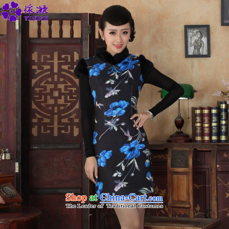 In accordance with the new fuser winter retro ethnic Chinese women s suits improved poster short of Sau San Tong replacing old _Y0029_ qipao figure聽L
